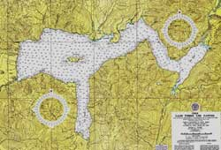 Todos Los Santos Lake , Nautical Chart