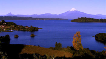 views of Puntiagudo and Osorno volcanoe
