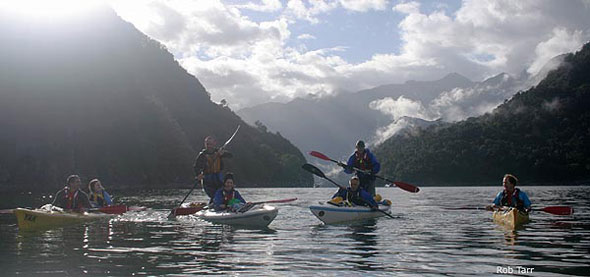 Sea kayaking Patagonia Fjords in Pumalin Park
