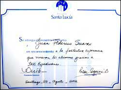 Thanks to Santa Lucia School